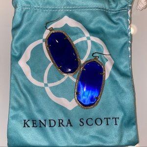 Blue cats eye Kendra Scott Earrings